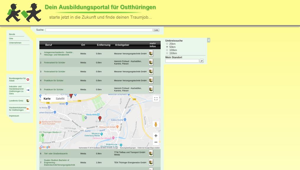 Dein Ausbildungsportal für Ostthüringen (Training portal for East Thuringia)